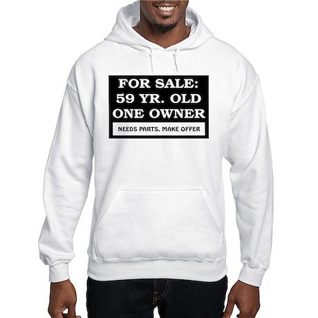 For Sale 59 Year Old Birthday Hooded Sweatshirt