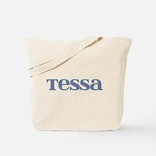 Tessa Blue Glass Tote Bag