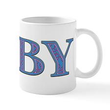 Toby Blue Glass Mug