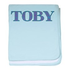 Toby Blue Glass baby blanket