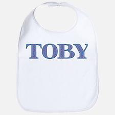 Toby Blue Glass Bib