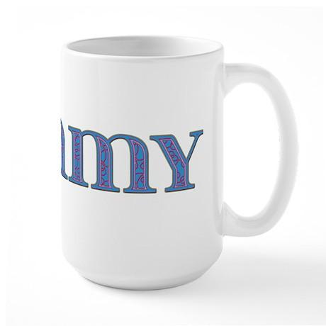 Tommy Blue Glass Large Mug