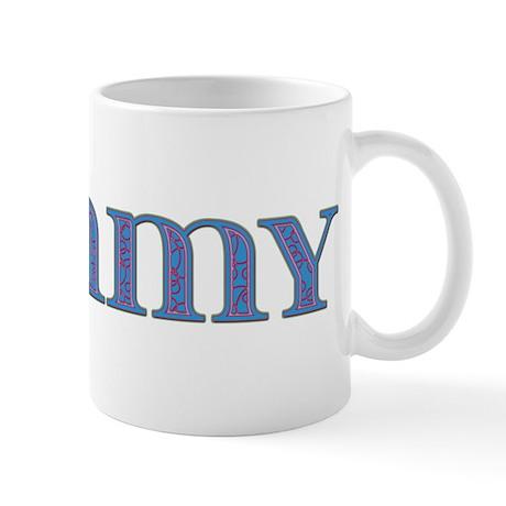 Tommy Blue Glass Mug