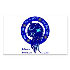 Blue Holly Clan Decal