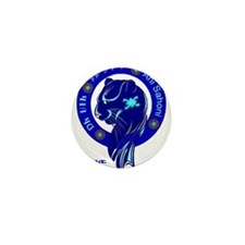 Blue Holly Clan Mini Button
