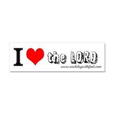 I love the Lord Bumper Sticker 10 x 3