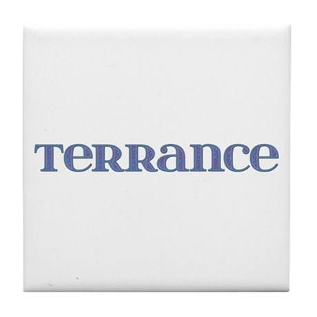 Terrance Blue Glass Tile Coaster