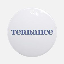 Terrance Blue Glass Round Ornament