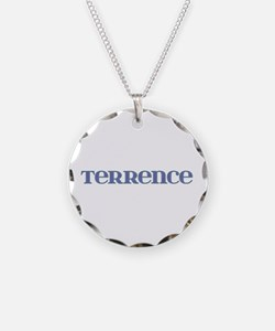 Terrence Blue Glass Necklace Circle Charm