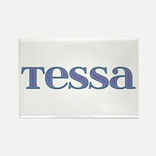 Tessa Blue Glass Rectangle Magnet
