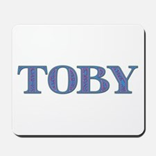 Toby Blue Glass Mousepad