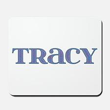 Tracy Blue Glass Mousepad