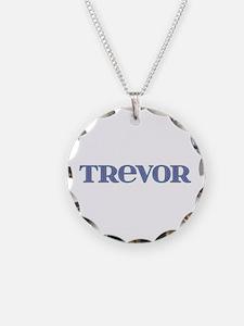 Trevor Blue Glass Necklace