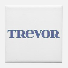 Trevor Blue Glass Tile Coaster