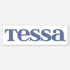 Tessa Blue Glass Bumper Bumper Bumper Sticker