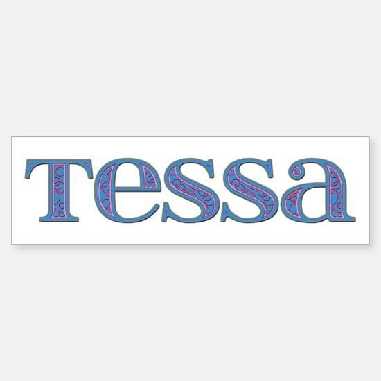 Tessa Blue Glass Bumper Car Car Sticker
