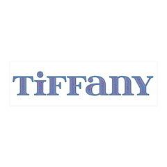 Tiffany Blue Glass 21x7 Wall Peel