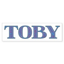 Toby Blue Glass Bumper Bumper Sticker