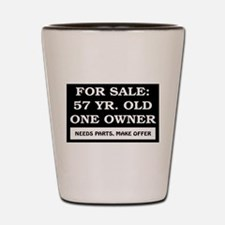 For Sale 57 Year Old Birthday Shot Glass