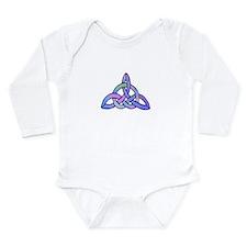 Triquetra blue Long Sleeve Infant Bodysuit
