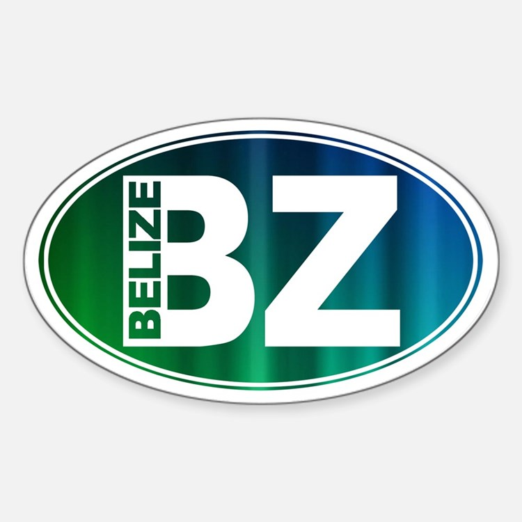 BELIZE - Sticker (Oval)