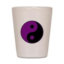 Purple-Black Yin Yang Shot Glass