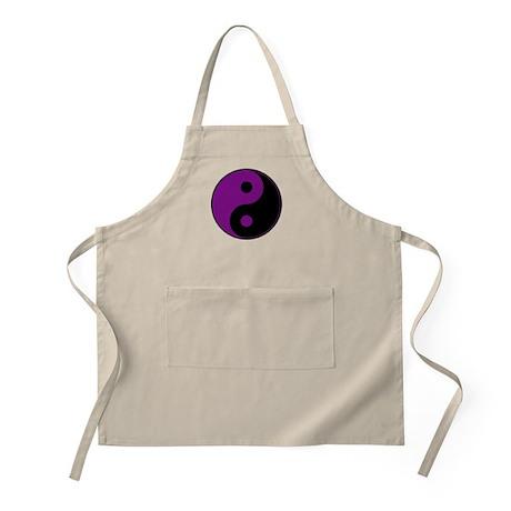 Purple-Black Yin Yang Apron