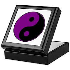 Purple-Black Yin Yang Keepsake Box