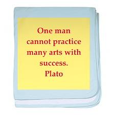 Wisdom of Plato baby blanket