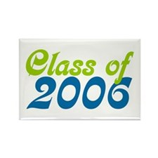 Retro Class of 2006 Rectangle Magnet