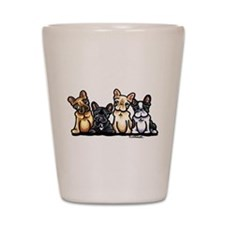 Four Frenchies Shot Glass