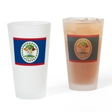 Cute Belize flag Drinking Glass