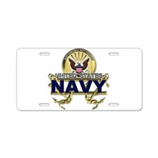 US Navy Gold Anchors Aluminum License Plate