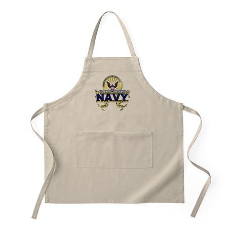 US Navy Gold Anchors Apron