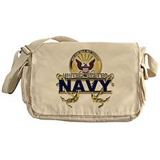 US Navy Gold Anchors Messenger Bag