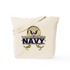 US Navy Gold Anchors Tote Bag