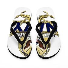 US Navy Gold Anchors Flip Flops