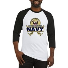 US Navy Gold Anchors Baseball Jersey