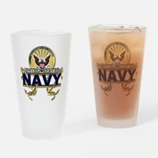 US Navy Gold Anchors Drinking Glass