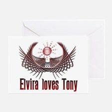 Elvira loves Tony Greeting Card