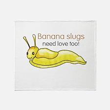 Funny Slugged Throw Blanket