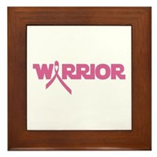 Pink Ribbon Warrior Framed Tile
