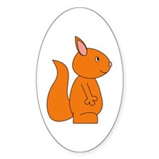 Cute Red Squirrel Decal
