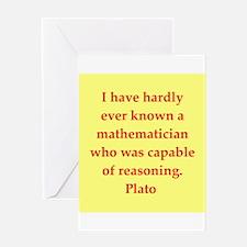Wisdom of Plato Greeting Card