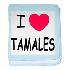 I heart tamales baby blanket