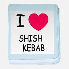 I heart shish kebab baby blanket