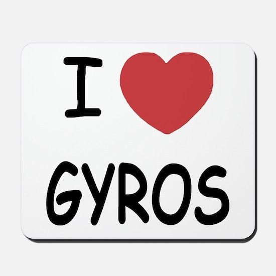 I heart gyros Mousepad