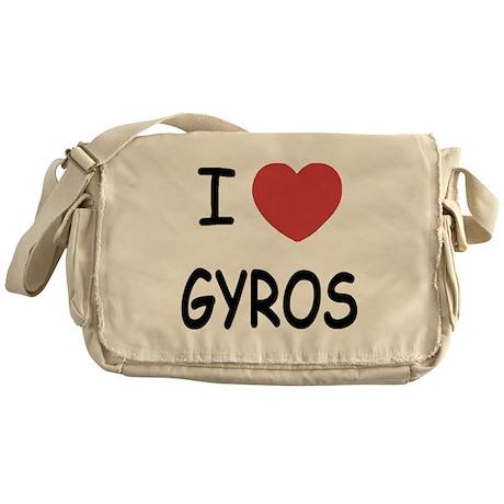 I heart gyros Messenger Bag