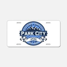 Park City Blue Aluminum License Plate