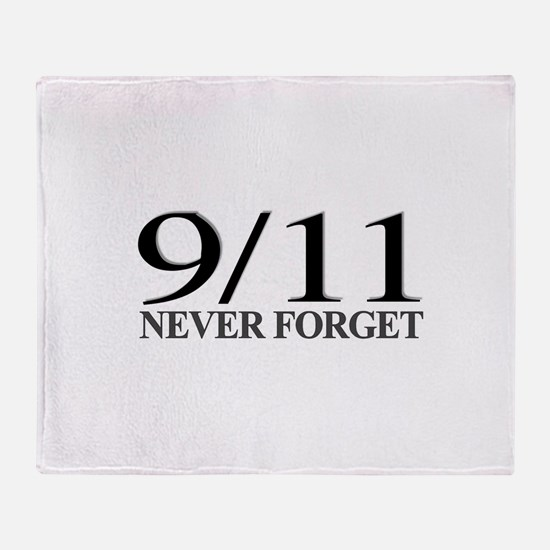 9/11 Never Forget Throw Blanket